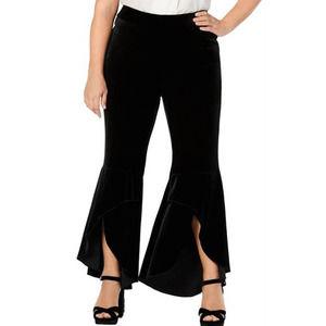 INC Black Velvet Flare Leg Pants
